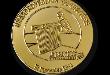 Médailles d'or 2004-2009 et 2009-2014 décernées par l'Interprofession du Gruyère AOP